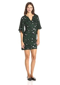 Ella moss Women's Jungle Floral Dress, Hunter, Large
