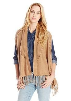 Ella moss Women's Lena Fringed Sweater Vest