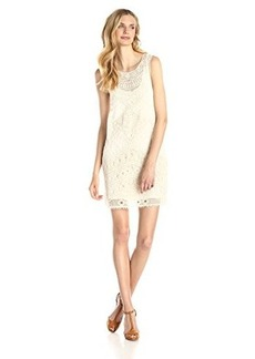 Ella moss Women's Lupita Lace Shift Dress, Natural, Medium/Large