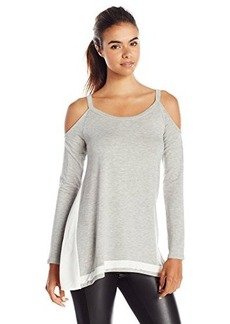 Ella moss Women's Mali Cold Shoulder Top, Heather Grey, X-Small