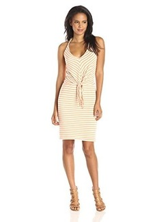 Ella moss Women's Mateo Jersey Striped Dress, Nectar, Medium