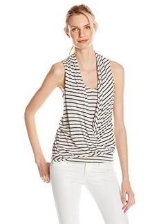 Ella moss Women's Mateo Striped Jersey Tank Top, Indigo, Small