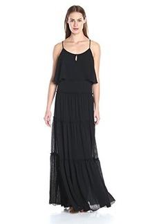 Ella moss Women's Nete Tiered Maxi Dress, Black, Medium