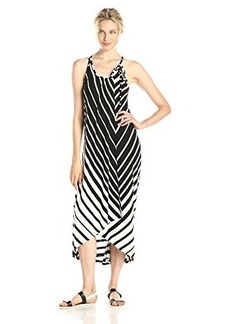 Ella moss Women's Nova Stripe Maxi Dress, Black, Medium