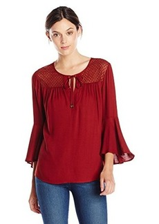 Ella moss Women's Sanaa Bell Sleeve Blouse, Henna, Large