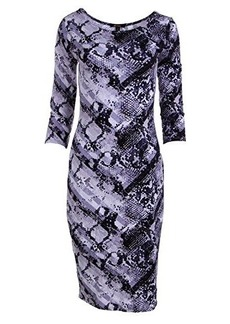 Ella moss Women's Serpentine Printed Jersey Dress, Ink, Small