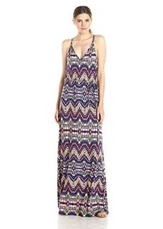 Ella moss Women's Souk Printed Jersey Maxi Dress, Royal, Medium