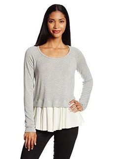 Ella moss Women's Stella Crepe and Jersey Overlay Top