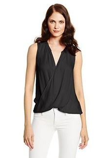 Ella moss Women's Stella Crepe Surplice Sleeveless Blouse