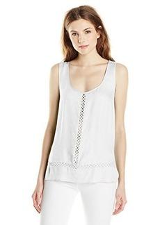 Ella moss Women's Stella Crepe Tank Top, White, Small