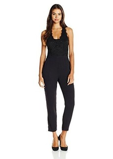 Ella moss Women's Stella Lace Bodice Jumpsuit, Black, Medium