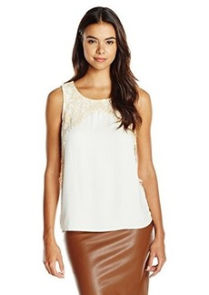 Ella moss Women's Stella Lace Detail Tank, Natural, X-Small