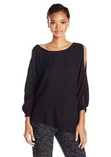 Ella moss Women's Stella Sleeve Detail Tunic Blouse, Black, X-Small