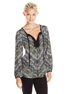 Ella moss Women's Zuni Print Blouse, Multi, X-Small