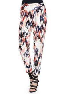 Ella Moss Zia Cropped Ikat-Print Pants