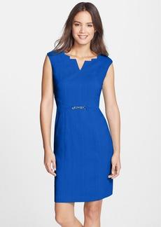 Ellen Tracy Angular Neckline Sheath Dress