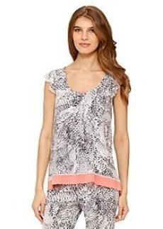 Ellen Tracy® Animal Print Short Sleeve Top