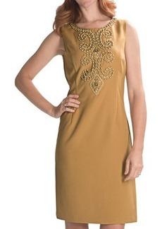 Ellen Tracy Beaded Sheath Dress - Sleeveless (For Women)