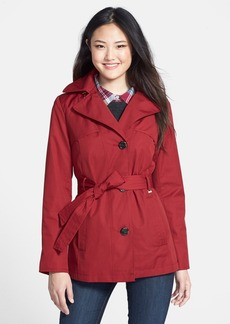 Ellen Tracy Belted Mini Trench Coat with Detachable Hood (Regular & Petite) (Nordstrom Exclusive)