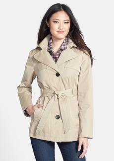 Ellen Tracy Belted Mini Trench Coat with Detachable Hood (Regular & Petite) (Nordstrom Exclusive)