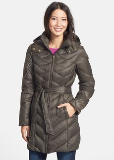 Ellen Tracy Belted Packable Down Coat (Online Only)