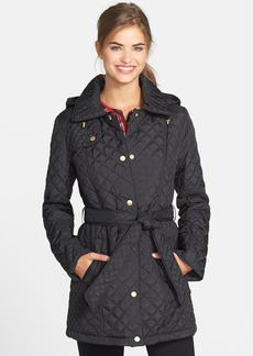 Ellen Tracy Belted Quilted Walking Coat (Online Only)