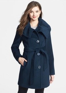 Ellen Tracy Belted Wool Blend Coat (Online Only)