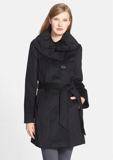 Ellen Tracy Belted Wool Blend Coat (Online Only)