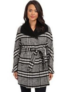 Ellen Tracy Belted Wrap Walker Coat