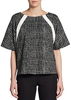 Ellen Tracy Colorblock Graphic-Print Top