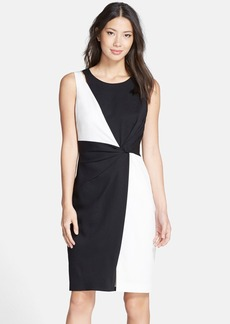 Ellen Tracy Colorblock Sheath Dress (Regular & Petite)