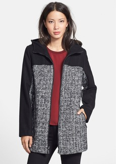 Ellen Tracy Colorblock Tweed Car Coat (Regular & Petite) (Online Only)