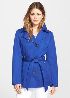Ellen Tracy Cotton Blend Short Trench Coat