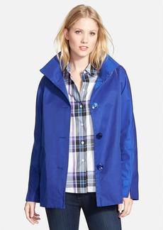 Ellen Tracy Cotton Blend Stand Collar A-Line Jacket