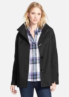Ellen Tracy Cotton Blend Stand Collar A-Line Jacket (Petite)