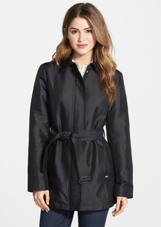 Ellen Tracy Covered Placket Trench Coat