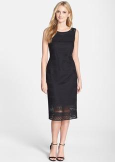Ellen Tracy Crochet Midi Sheath Dress