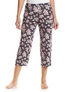 Ellen Tracy® Crop Pajama Pants - Gray Floral