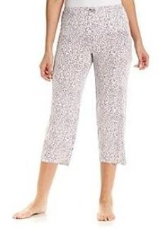 Ellen Tracy® Crop Pajama Pants - Leopard