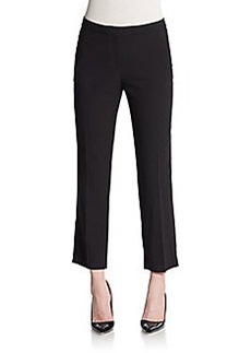 Ellen Tracy Cropped Crepe Trousers
