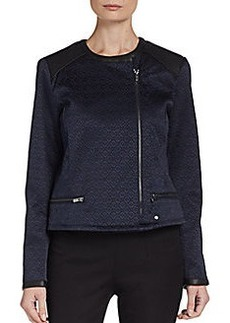Ellen Tracy Cropped Jacquard Jacket