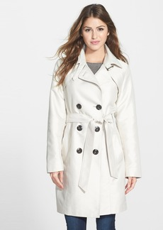 Ellen Tracy Double Breasted Trench Coat