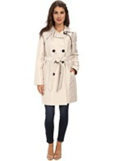 Ellen Tracy Double Button Belted Trench