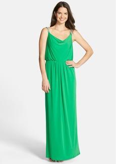 Ellen Tracy Embellished Strap Blouson Gown