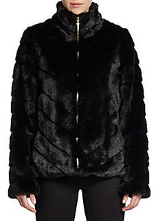 Ellen Tracy Faux Fur Blouson Jacket