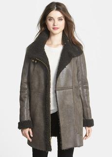 Ellen Tracy Faux Shearling Walking Coat (Online Only)