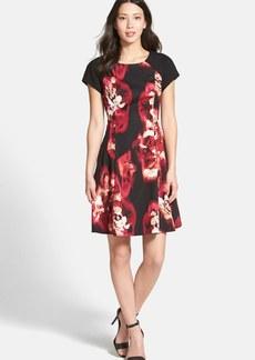 Ellen Tracy Floral Fit & Flare Dress (Regular & Petite)