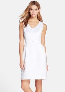 Ellen Tracy Floral Jacquard Fit & Flare Dress
