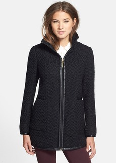 Ellen Tracy Front Zip Bouclé Coat (Regular & Petite)