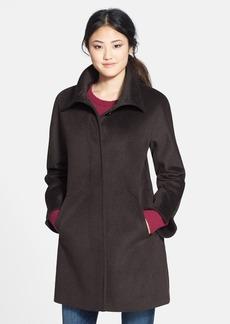 Ellen Tracy Funnel Collar Wool Blend Topper (Regular & Petite) (Nordstrom Exclusive)